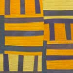 Abstract Contemporary Textile Painting - Art Quilt - Structures#7 ©2007 Lisa Call