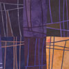 Abstract Contemporary Textile Painting - Art Quilt - Structures #116 ©2011 Lisa Call