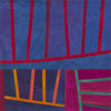 Abstract Contemporary Textile Painting - Art Quilt - Structures #127 ©2011 Lisa Call