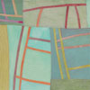 Abstract Contemporary Textile Painting - Art Quilt - Structures #141 ©2012 Lisa Call