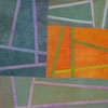 Abstract Contemporary Textile Painting - Art Quilt - Structures #29 ©2012 Lisa Call