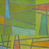 Abstract Contemporary Textile Painting - Art Quilt - Structures #166 ©2014 Lisa Call