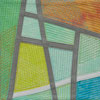 Abstract Contemporary Textile Painting - Art Quilt - Structures #167 ©2011 Lisa Call
