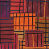 Abstract Contemporary Textile Painting - Art Quilt - Structures #32 ©2005 Lisa Call