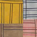 Abstract Contemporary Textile Painting - Art Quilt - Structures#36 ©2007 Lisa Call