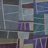 Abstract Contemporary Textile Painting - Art Quilt - Structures #73 ©2011 Lisa Call